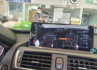 התקנת מולטימדיה אנדרואיד 10 אינץ תואם מקור 4G, לרכב BMW