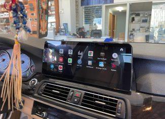 התקנת מסך מולטימדיה אנדרואיד באיכות הכי גבוהה ובגודל 12 אינץ ל BMW סידרה 5 שנת 2014